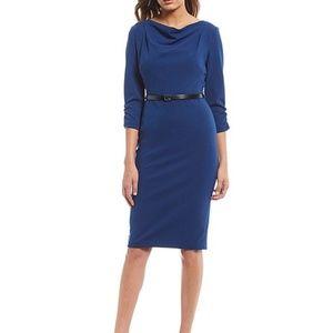 Calvin Klein cowlneck dress size 8